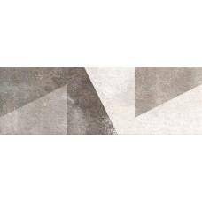 კედლის ფილა DECORADO GEO GRIS 25X75 დეკორი