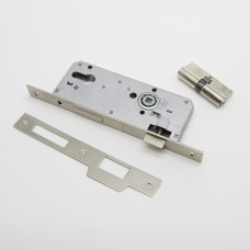 კარის საკეტი ცილინდრული 801 45/85  70MM SATINE