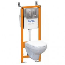 შეკიდული უნიტაზის კომპლექტის Della ჩამრეცხი მექანიზმი DE814090046-И.Ор.ХХ