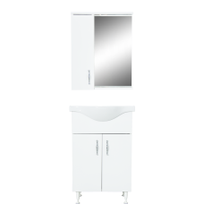 აბაზანის ავეჯის კომპლექტი CLASSIC 55სმ თეთრი