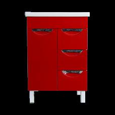 აბაზანის ავეჯი LAURA-60 ხელსაბნით COMO-60 წითელი