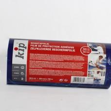 დამცავი ფოლიე (წებვადი, ლურჯი-გამჭვირვალე) KIP 25სმ.X 100მ.