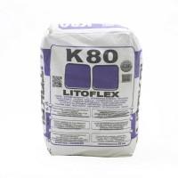 წებოცემენტი K80 LITOFLEX GREY 25კგ
