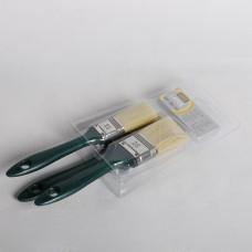 აკრილის ფუნჯების ნაკრები მწვანე სახელურით, 3ც, 0280-070003