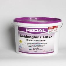 წყალემულისია ნახევრადპრიალა feidal seidenglanz latex  weib 10 L