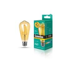 დიოდური ნათურა Camelion Led Lamp Filament LED10-ST64-FL-GD/830/E27 10ვატი