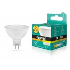 ლედ ნათურა Camelion LED Energy Saving LED Bulbs - 7W/Warmlight/ LED7-JCDR/830/GU5.3 თბილი ნათება