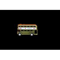 ხელნაკეთი სუვენირი რკინის ორსართულიანი ავტობუსი სათლელი