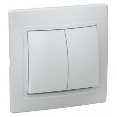 ჩამრთველი ВС10-2-0-КБ 2кл проход.10А КВАРТА (თეთრი)