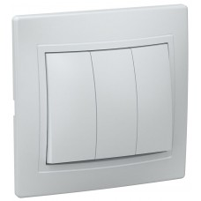 ჩამრთველი ВС10-3-0-КБ 3кл проход.10А КВАРТА (თეთრი)