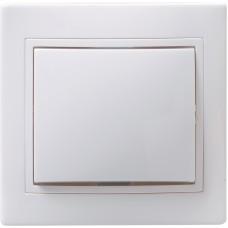 ჩამრთველი ВС10-1-0-КБ 1кл проход.10А КВАРТА (თეთრი)