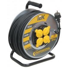 კოჭა  УК50 როზეტის  4 ადგილი  2Р+PЕ/50м КГ 3х2,5мм2 IP44 Professional