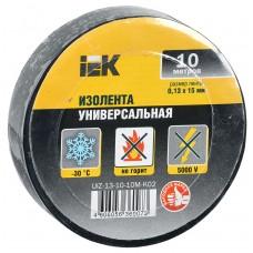საიზოლაციო ლენტი 0,13х15 мм შავი 10 მეტრი IEK