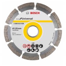 ალმასის საჭრელი დისკი ბეტონის Bosch ECO Universal 125x22.23მმ