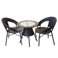 მოწნული მაგიდა 2 სავარძლით ლბზ-32