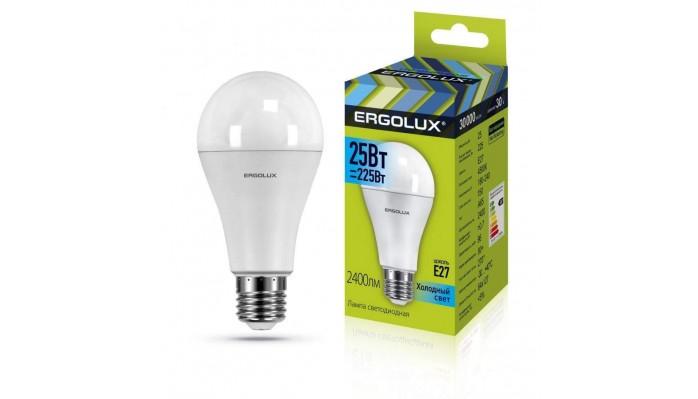 Ergolux Led Lamp  LED-A65-25W-E27-4K ნათურა ლედ განათებით ეკონომიური 25 ვატი  225 ვატი